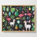 Colorful Tropical Flowers Animals And Leafs by artonwear