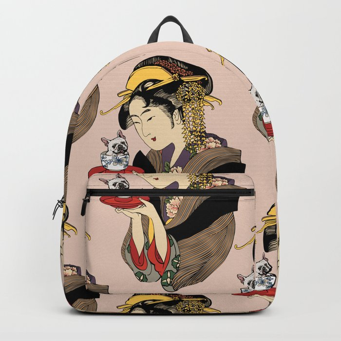 Tea time with Frenchie Backpack