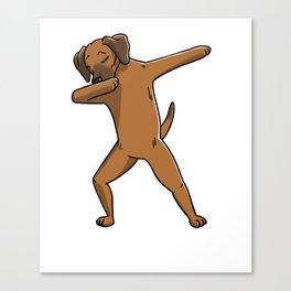 Funny Dabbing Rhodesian Ridgeback Dog Dab Dance Canvas Print