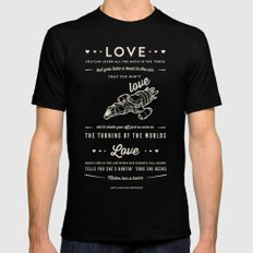 Love by Captain Malcolm Reynolds [Serenity] Mens Fitted Tee Black MEDIUM
