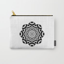 #12 Black And White Geometrical Mandala Ornament Carry-All Pouch