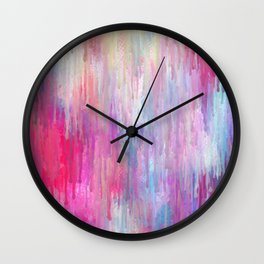 Colorful Abstract Paint Cascade Design Wall Clock