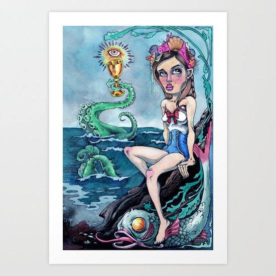 The Queen of Cups Art Print
