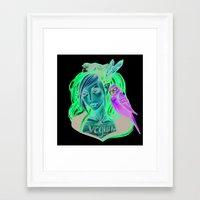 vegan Framed Art Prints featuring Vegan by Mortimer Sparrow