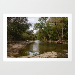 Brushy Creek Bed Art Print