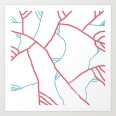veins & arteries Art Print