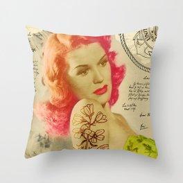 Rockabilly Dolly - Lauren Throw Pillow