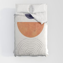 Abstract mid century modern Comforters