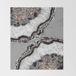 Yin Yang Agate Glitter Glam #9 #gem #decor #art #society6 Throw Blanket