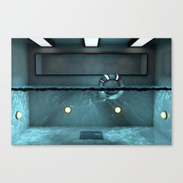 Bath House Canvas Print