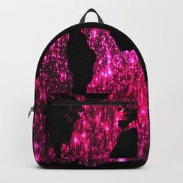 Pink Sparkle World Map Backpack