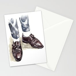 Vintage Monk Strap Fashion Illustration Stationery Cards