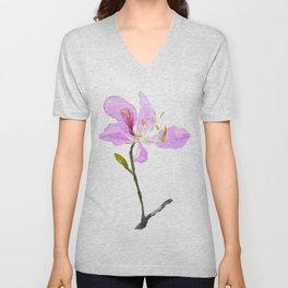 purple Buahinia Unisex V-Neck