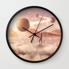 Four Spheres Wall Clock