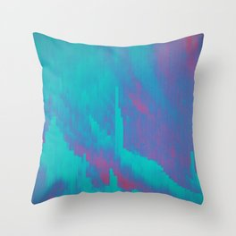 Glitched v.7 Throw Pillow
