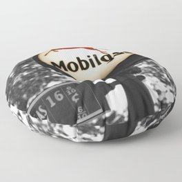 Gas Mobil History photography Floor Pillow