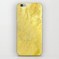 gold foil iPhone & iPod Skins featuring Gold Foil by Sweet Karalina