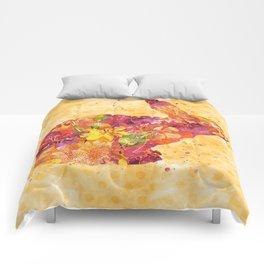 Happy Bunny flower watercolor pattern rabbit Comforters