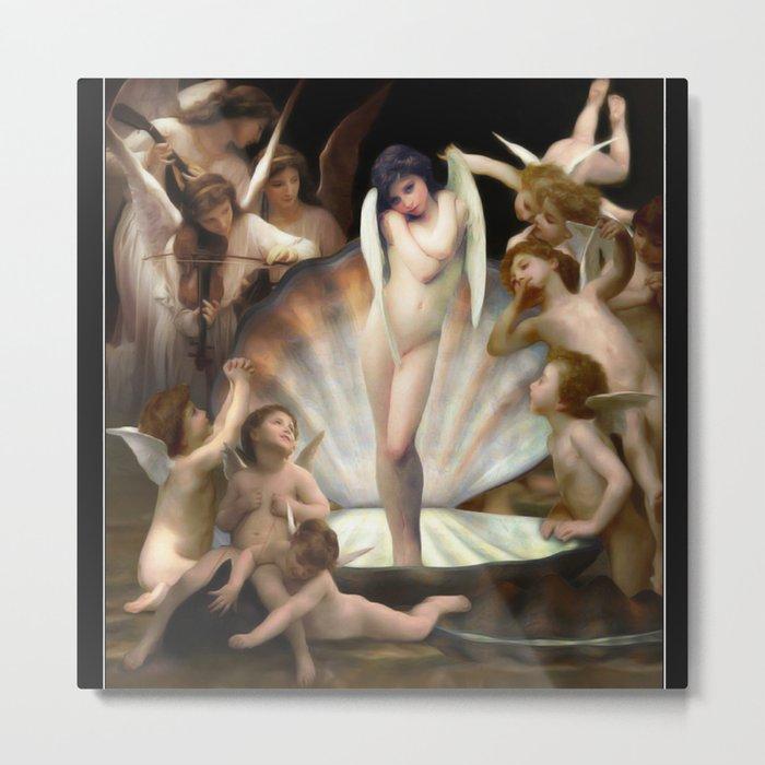 Bouguereau's Angels Surround Cupid Metal Print