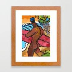 Secret Break 2 Framed Art Print