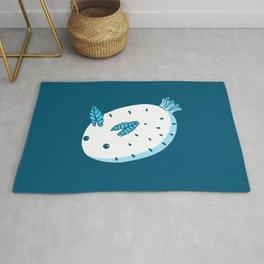 Sea Bunnies_Blue Rug