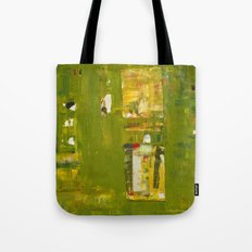 Iodine Green Abstract Art Modern Print Tote Bag