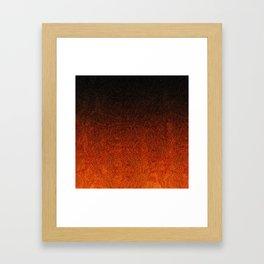 Orange & Black Glitter Gradient Framed Art Print