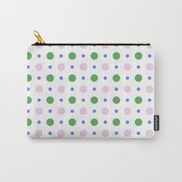 Geometric lavender pink green modern polka dots pattern Carry-All Pouch