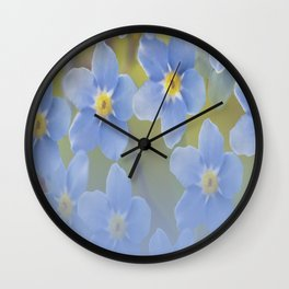 Forget-me-not flowers - summer beauty #society6 #buyart Wall Clock