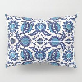 Iznik Pattern Blue and White Pillow Sham