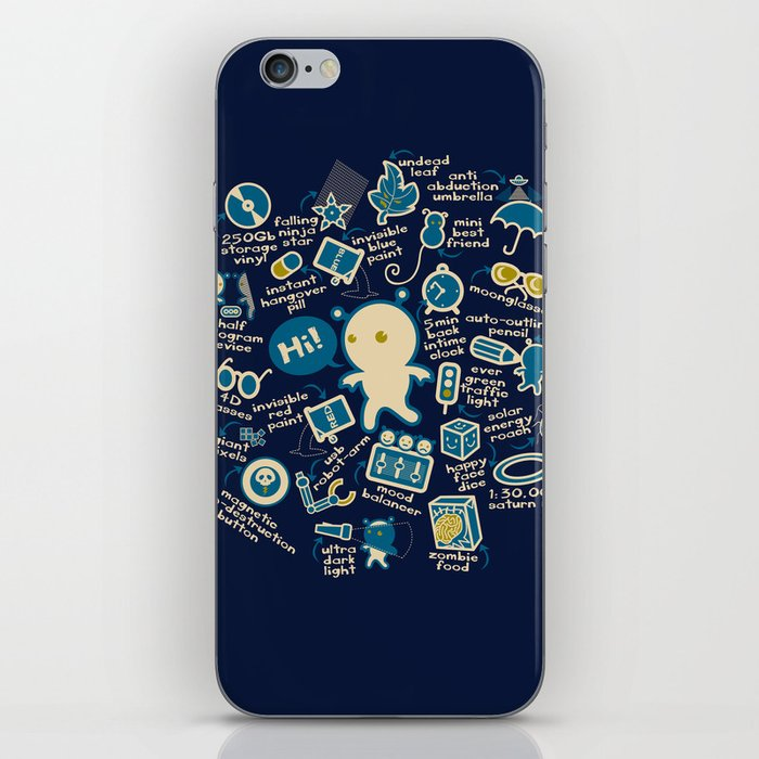AWESOME BIBI'S GADGETS iPhone Skin