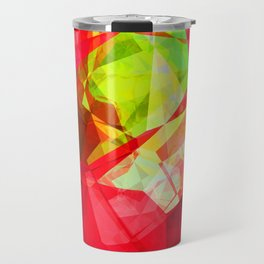 Mixed color Poinsettias 1 Abstract Polygons 1 Travel Mug