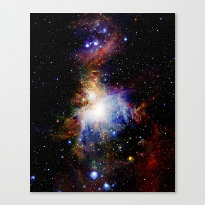 Orion NebulA Colorful Full Image Canvas Print