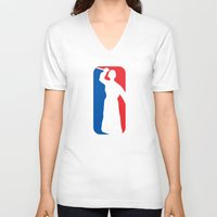 league V-neck T-shirts featuring Psycho League by dutyfreak