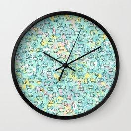 Marble Kitty Cats Wall Clock