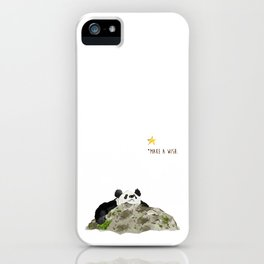 Panda - Make a wish iPhone Case