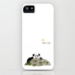 Panda - Make a wish iPhone Case