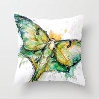 luna Throw Pillows featuring Luna by Abby Diamond