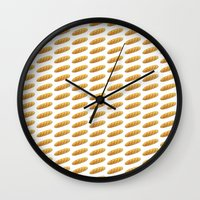 bread Wall Clocks featuring bread by Bread Sports