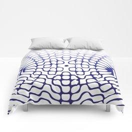 Blue Cymatics Pattern Comforters