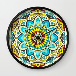 Happy colors mandala Wall Clock
