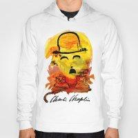 charlie chaplin Hoodies featuring Charlie Chaplin by Genco Demirer