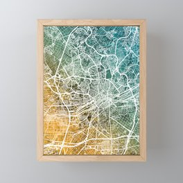 Frankfurt Germany City Map Framed Mini Art Print