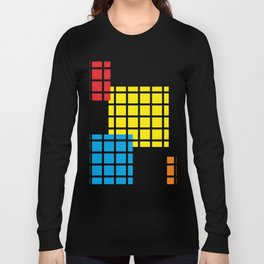 Modern geometric background, red, yellow, green,orange and blue  #society6 #decor #buyart #artprint Long Sleeve T-shirt