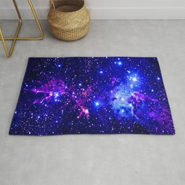Fox Fur Nebula Galaxy blue purple Rug