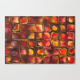 Red Blood Cells in Flow Canvas Print