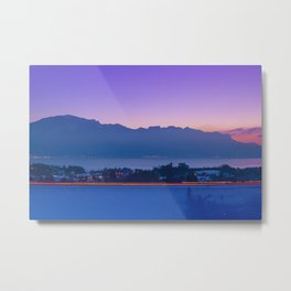 Mountainscape At Sunset Over Geneva Lake Metal Print