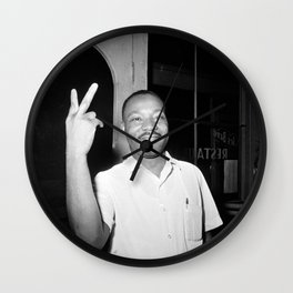 Martin Luther King Peace Symbol Wall Clock