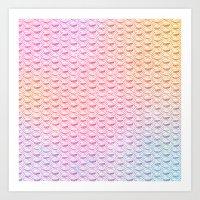 Rainbow Mermaid Scales Art Print