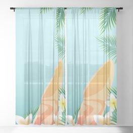 Surf love Sheer Curtain